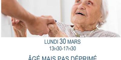 """Demi-journée thématique """"Agé mais pas déprimé"""" 30 mars 2020"""