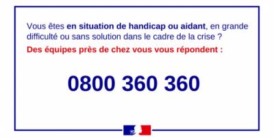 Un numéro vert mis en place pour accompagner les personnes en situation de handicap et leurs proches aidants