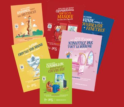 Campagne de communication de l'ARS : des contes pour sensibiliser au respect des gestes barrières durant les fêtes de fin d'année