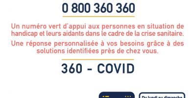 Un numéro vert d'appui aux personnes en situation de handicap et leurs aidants dans le cadre du Covid