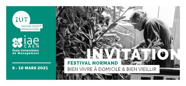 """Festival normand """"Bien vivre à domicile & bien vieillir"""" 2021"""